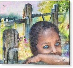 Hope Acrylic Print by Mo T