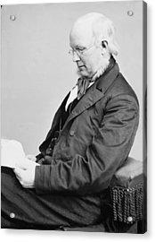Horace Greeley 1811-1872, Ca. 1860 Acrylic Print by Everett