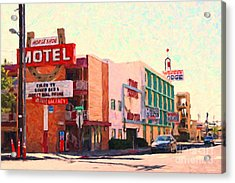 Horse Shoe Motel Acrylic Print by Wingsdomain Art and Photography
