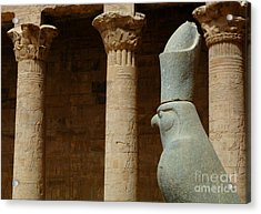Horus Temple Of Edfu Egypt Acrylic Print by Bob Christopher