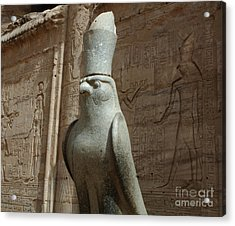 Horus The Falcon At Edfu Acrylic Print by Bob Christopher