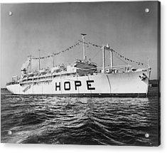 Hospital Ship, S.s. Hope , 15,000-ton Acrylic Print by Everett