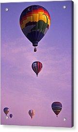 Hot Air Balloon Race - 3 Acrylic Print by Randy Muir