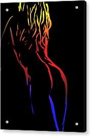 Hot Curves Acrylic Print by Stefan Kuhn