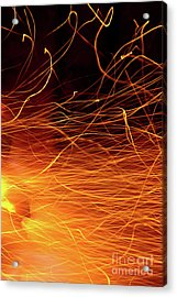 Hot Sparks Acrylic Print by Carlos Caetano