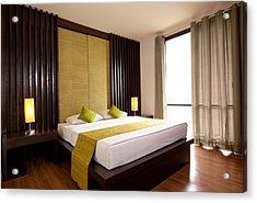 Hotel-room Acrylic Print by Atiketta Sangasaeng