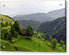 House In The Apuseni Mountains Acrylic Print by Emanuel Tanjala