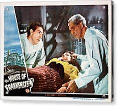 House Of Frankenstein, From Left J Acrylic Print by Everett
