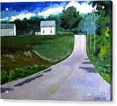 House On The Hill Acrylic Print by Charlie Spear