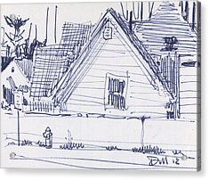 House Sketch One Acrylic Print by Donald Maier