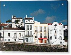 Houses In Ponta Delgada Acrylic Print by Gaspar Avila