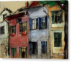 Houses In Transylvania 1 Acrylic Print by Mona Edulesco