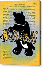 Hufflepuff Badger Acrylic Print by Jera Sky