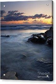 Hug Point Sunset Acrylic Print by Mike  Dawson