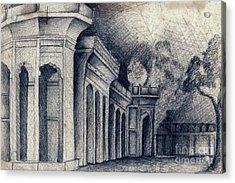 Humayun Tomb Acrylic Print by Rohinibhan Challu