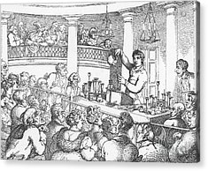 Humphrey Davy Lecturing, 1809 Acrylic Print by Science Source