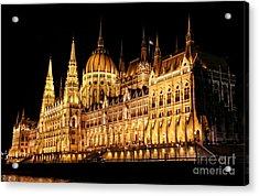 Hungarian Parliament Building Acrylic Print by Mariola Bitner