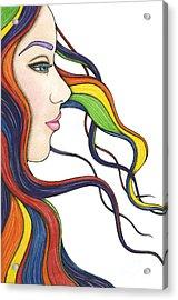 I Am My Own Rainbow Acrylic Print by Nora Blansett