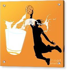 I Can Dunk Acrylic Print by Laura Brightwood