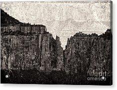 I Have Climbed  A Mountain Acrylic Print by Venura Herath