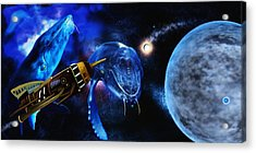 I Think Something Is Out There Acrylic Print by Shere Crossman