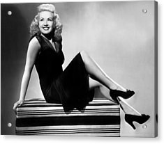 I Wake Up Screaming, Betty Grable, 1941 Acrylic Print by Everett