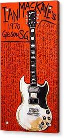 Ian Mackaye 1970 Gibson Sg Acrylic Print by Karl Haglund