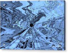 Ice Blue - Abstract Art Acrylic Print by Carol Groenen