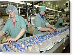 Ice Cream Production Line Acrylic Print by Ria Novosti
