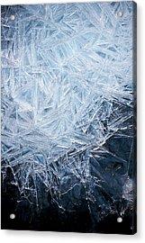 Ice Crystal Patterns Acrylic Print by Skye Hohmann