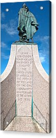 Iceland Leif Erricson Statue Acrylic Print by Gregory Dyer