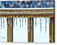 Icicles Acrylic Print by HD Connelly