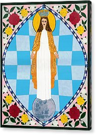 Icon Of The Immaculate Conception Acrylic Print by David Raber