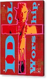 Idol Worship Acrylic Print by Ricky Sencion