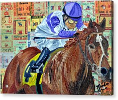 I'll Have Another Wins Acrylic Print by Michael Lee