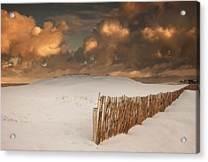 Illuminated Clouds Glowing Over A Snow Acrylic Print by John Short