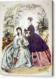 Illustration Of 19th Century Fashions Acrylic Print by Everett