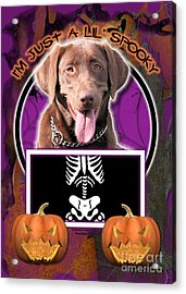 I'm Just A Lil' Spooky Labrador Acrylic Print by Renae Laughner