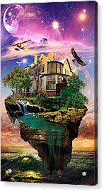 Imagination Home Acrylic Print by Kenal Louis