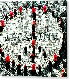 Imagine Peace Licensing Art Acrylic Print by Anahi DeCanio