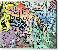 Imaginery Landscape 1 Acrylic Print by Valeria Jye
