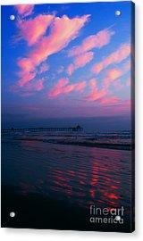 Imperial Beach At Dusk Acrylic Print by Sabino Cruz