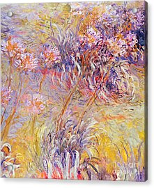 Impression - Flowers Acrylic Print by Claude Monet