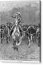 In A Stampede Acrylic Print by Granger