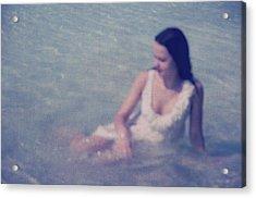 In Blue. Impressionism Acrylic Print by Jenny Rainbow