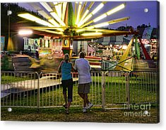 In Love At The Fair Acrylic Print by Paul Ward