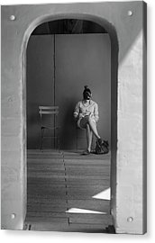 In The Doorway Acrylic Print by Robert Ullmann