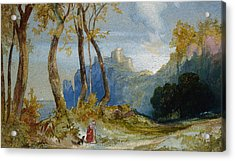 In The Hills Acrylic Print by Thomas Moran