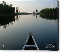 In The Old Canoe Acrylic Print by Alex Blaha
