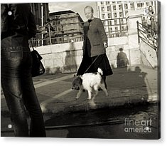 In The Street Acrylic Print by Odon Czintos